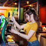 Bartender in action